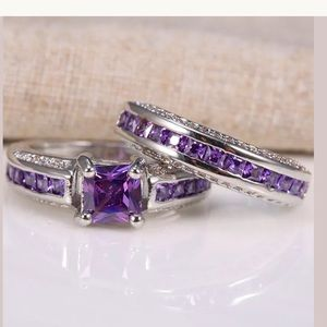 Jewelry - New 925 sterling silver Amethyst ring set